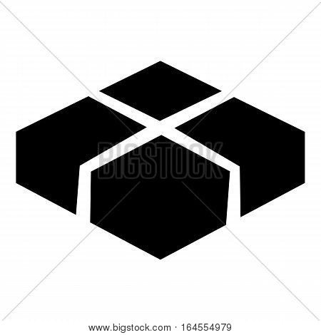 Level box icon. Simple illustration of level box vector icon for web