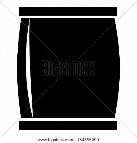 Plastic jar icon. Simple illustration of plastic jar vector icon for web