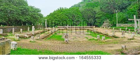 The Ruins Of Ancient Refectory