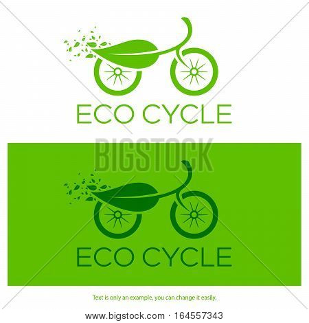 Cycle logo design with ecology theme. Isolated icon. Vector illustration.