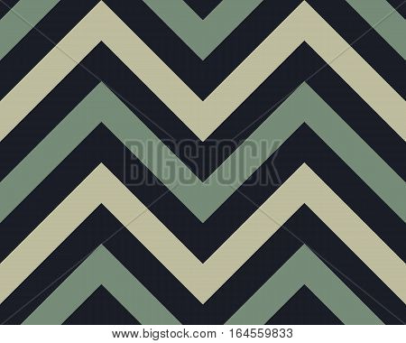 Striped, zigzagging seamless pattern. Zig-zag line texture. Stripy geometric background. Gray contrast colored. Winter theme. Vector