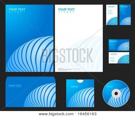 Vector blue company identity template