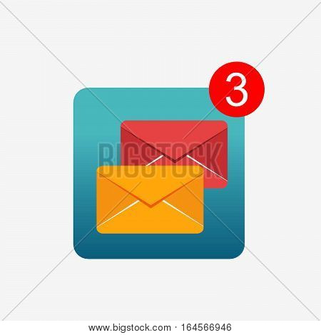 Message notifications icon concept. Inbox messages icon