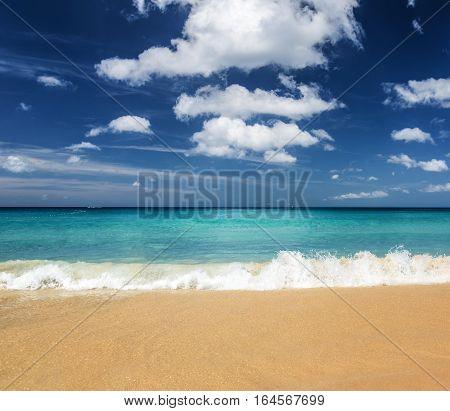 Beautiful Tropical Beach And Blue Sky