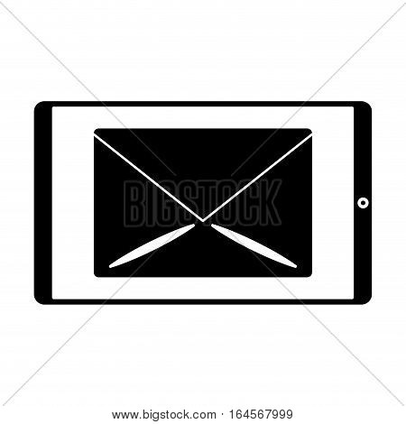 silhouette smartphone email message mail vector illustration eps 10