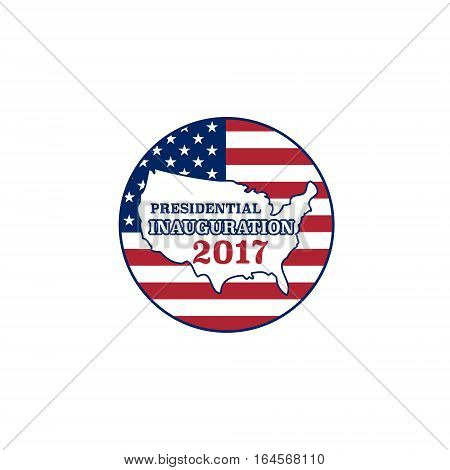 Vector presidential inauguration 2017 icon. Design element