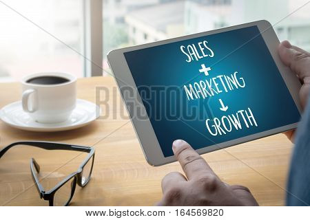 Direct Sales  Business, Technology, Internet And Network Concept , Strategy Goal Analysis Sale Plann