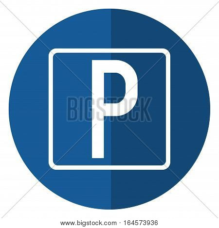 parking sign road street vehicle shadow vector illustration eps 10