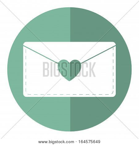 email envelope message love shadow vector illustration eps 10