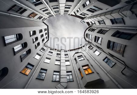 Courtyard Well In Saint Petersburg