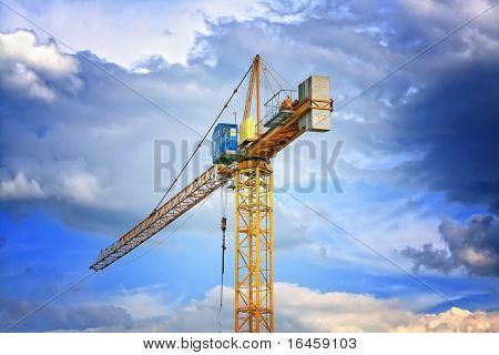 crane against a blue sky