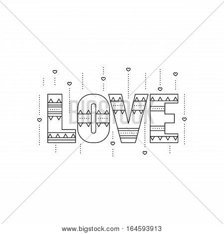 Vector thin line icon. Valentine's Day, feelings of romance and love. Black on white pictogram, isolated symbol. Simple mono linear modern design.