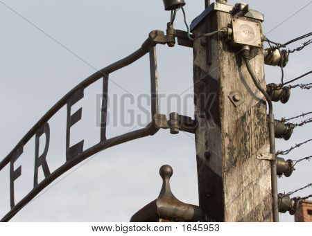 Auschwitz Main Gate Detail