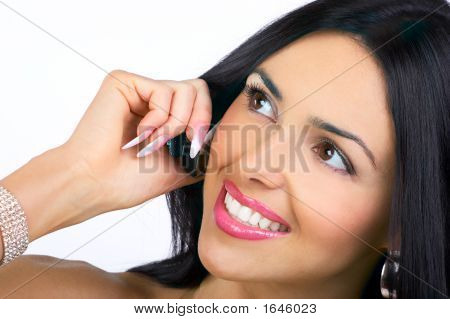 Woman With Cell