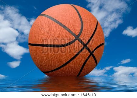 Basketball With Reflection