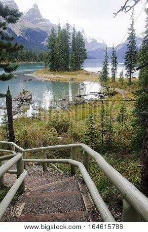 Lake Medicine Near Jasper In Canada