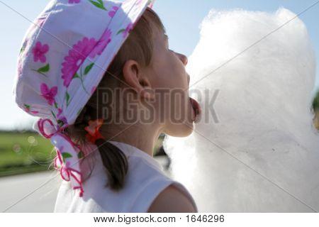 Girl Licks Candyfloss
