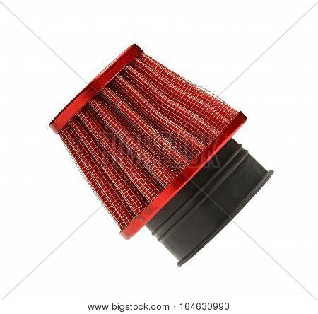 Air filter for motorcycle isolated on white background