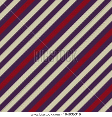 Seamless geometric pattern. Stripy texture for neck tie. Diagonal contrast strips on background. Gray, purple,  vinous colors. Vector