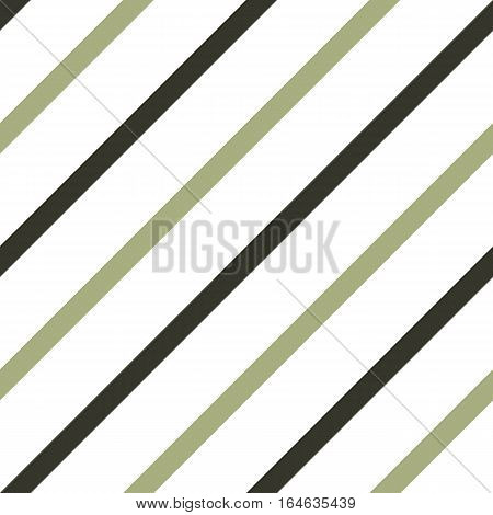 Seamless geometric pattern. Stripy texture for neck tie. Diagonal contrast strips on white background. Black, khaki colors. Vector