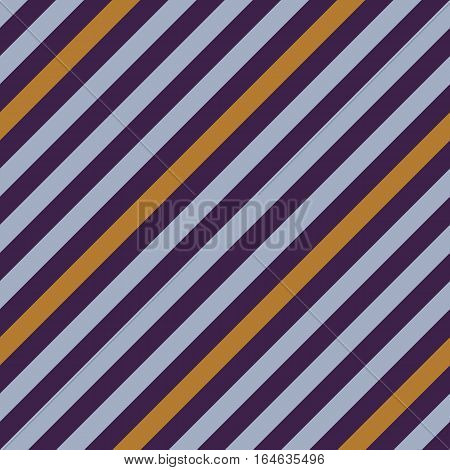 Seamless geometric pattern. Stripy texture for neck tie. Diagonal contrast strips on background. Blue Bell, cream, violet colors. Vector