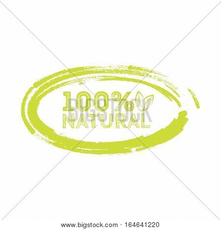 Logo Natural With Leaves, Natural Product, Organic, Healthy Food.