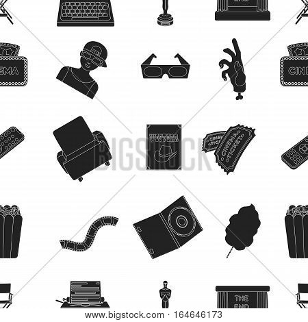 Films and cinema pattern icons in black style. Big collection of films and cinema vector symbol stock