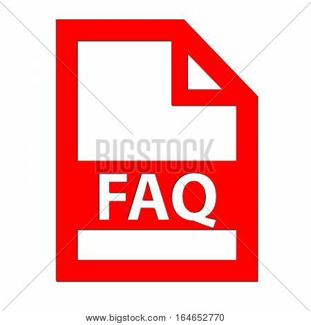 FAQ file icon with a white background