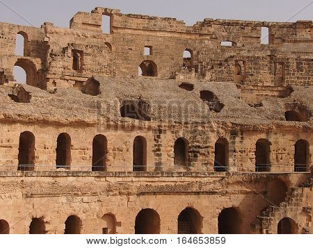 The Colosseum -- an enormous amphitheater, a monument of architecture of the Ancient Roman empire