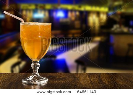 Tangerine Fruit Caipirinha Of Brazil On Wooden Background