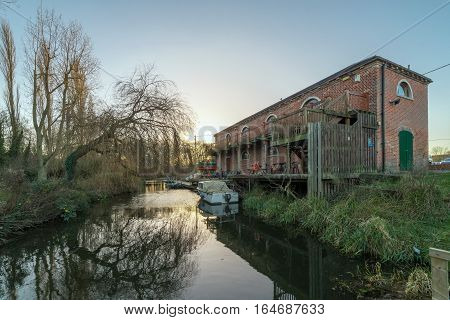 The Granary on the River Stour in Sudbury, Suffolk