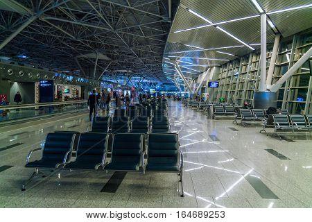 Saint Petersburg, Russia - December 25, 2016:  Waiting Hall Of The Airport Vnukovo