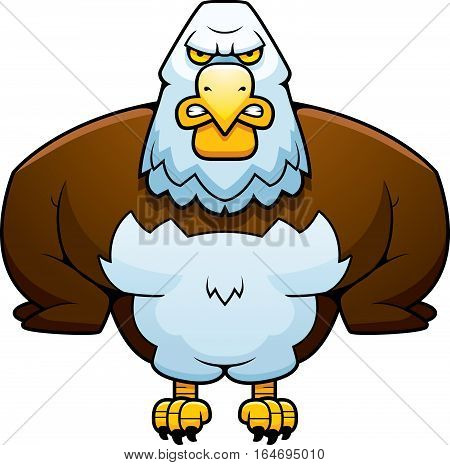 Cartoon Powerful Eagle