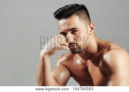 Handsome Man Or Muscular Macho