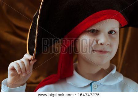 A Young Pirate In A Black Hat, Pirate Logo,