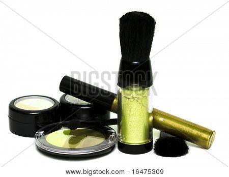 amarillo para maquillaje, sombras de ojos, colorete, colorete y brillo