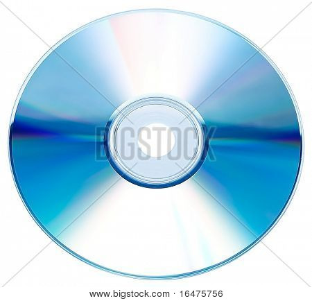 Cd or DVD rom isolated on white background