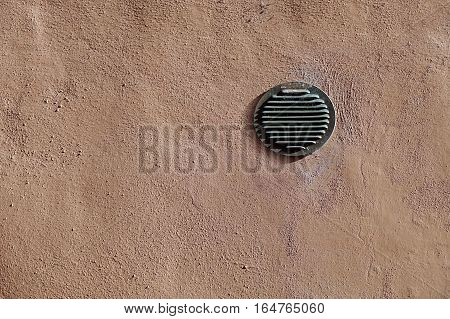 Air vent and back door of a modern architecture