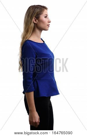 Profile Portrait Of Beautiful Young Girl