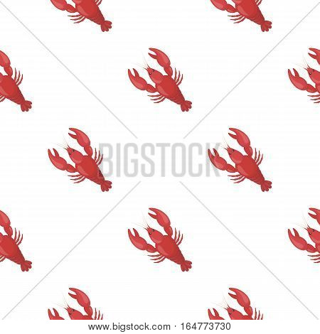 Boiled lobster icon in cartoon style isolated on white background. Oktoberfest pattern vector illustration.
