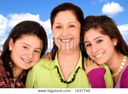 Happy Family Portrait - Smiling