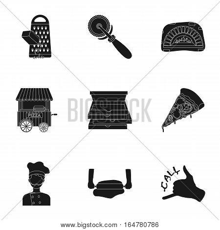Pirates set icons in black design. Big collection of pirates vector symbol stock illustration