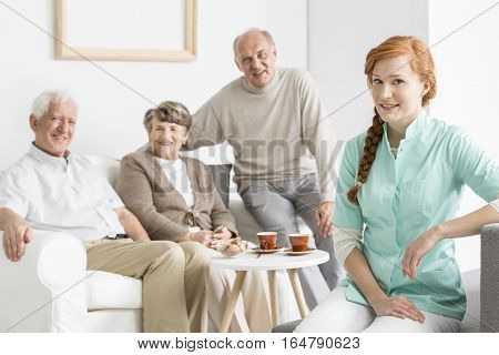 Nurse With Senior Charges