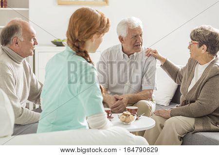 Elder People Talking