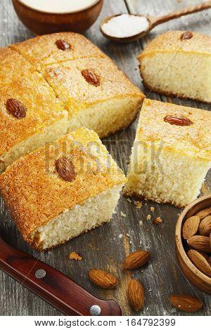 Semolina Pie With Coconut