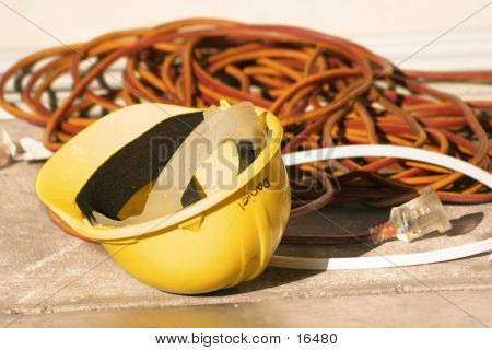 Hard Hat And Electrical Wiring