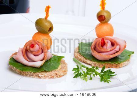 Ham Canapes