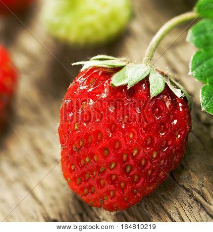 Fresh strawberry on a table. Healthy bio food.
