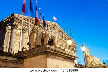 The National assembly is the lower house of the French parliament. The official seat of the National Assembly is the Palais Bourbon on the banks of the river Seine it is guarded by Republican Guards.