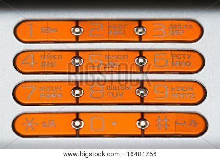 mobile phone with orange keys